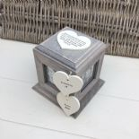 Shabby Chic In Memory Of A Son ANY NAME Rustic Wood Personalised Photo CUBE Box
